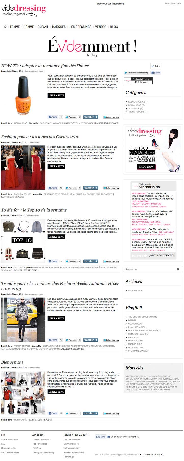 Blog Vide Dressing
